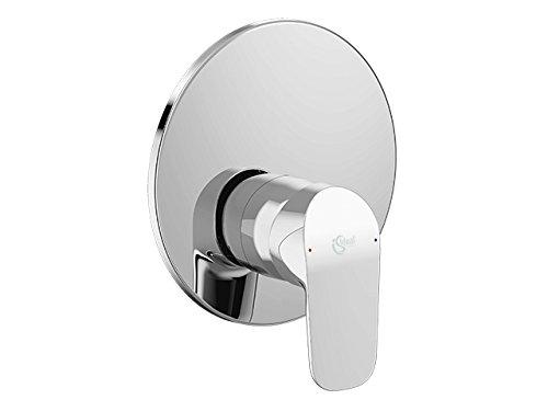 Shower Fitting Ceraflex Model Kit 2| Single-Lever Mixer Tap for Wall Installation with Rosette Metal Click Cartridge 163mm Plastic Lever, Finish: Chrome