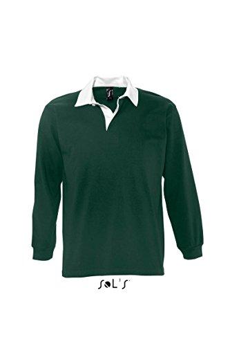 SOL´S Rugbyshirt Pack, Größe:S, Farbe:Dark Green/White