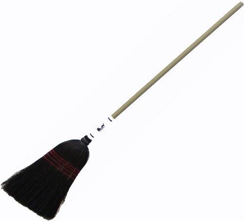 Authentic Hand Made All Broomcorn Broom (Medium BLACK 16-Inch Head) (Halloween Lancaster Pa)