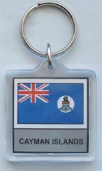 Cayman Islands - Country Lucite Key (Country Cayman Islands)