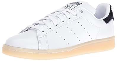 adidas Originals Women's Stan Smith w Fashion Sneaker, White/White/Collegiate Navy, 5.5 M US