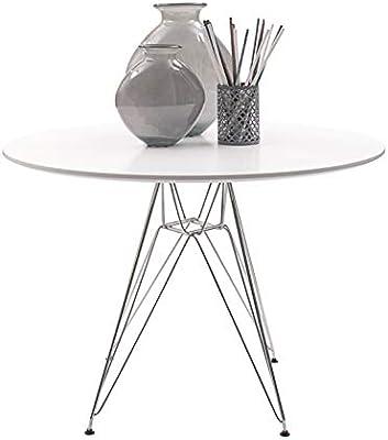 Homely - Mesa de Cocina o Comedor Redonda de 100 cm, de diseño ...