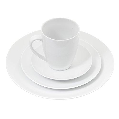 Coffee Mugs Set Set of 6, 14 Ounce Ceramic Dinner Mugs Set, Pure White by Douzi (Image #3)