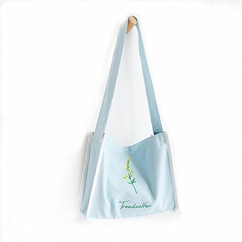 Canvas Casual Women's Blue Bag Crossbody Shopping Bag Bag Bag ZIIPOR Shoulder Hobo q548w4T