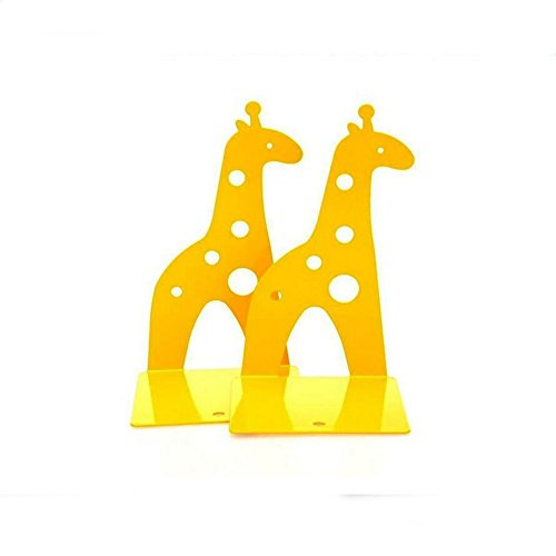 Cute Giraffe Nonskid Bookends Book Ends Organizer Bookend Art Gift,1 Pairs,Yellow by TOBSON (Image #2)