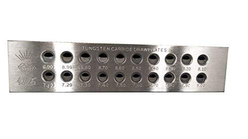 Tungsten Carbide Wire - LTKJ Tungsten Carbide Wire Drawplate Jewelry Making Half Round Holes (7.1-9.0mm)
