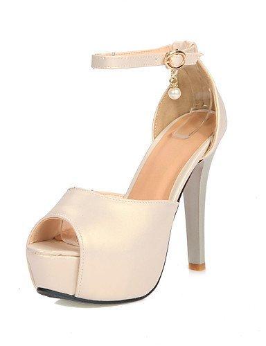 ShangYi Womens Shoes Stiletto Heel Peep Toe/Platform/Open Toe Sandals Party & Evening/Dress Blue/Green/Beige Beige