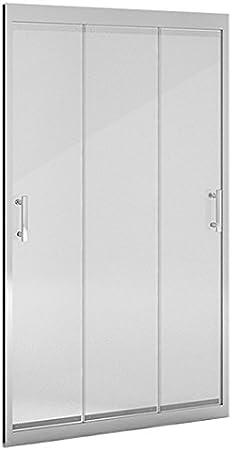 Mampara ducha_PdM_FRONTAL TRANSPARENTE 3 puertas correderas (90cm): Amazon.es: Bricolaje y herramientas