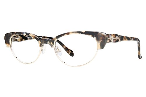 Leon Max LM 4008 Womens Eyeglass Frames - Brown/Black - Leon Glasses