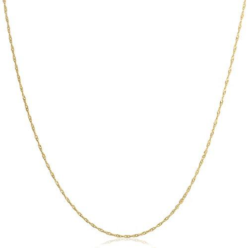 Kooljewelry 14k Yellow Gold Filled 1mm Singapore Chain (16, 18, 20, 22, 24 or 30 inch)