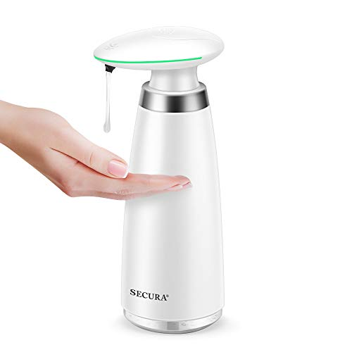 Secura Automatic Soap Dispenser 350ML / 11.8OZ Premium Touchless Battery Operated Electric Dispensers w/Adjustable Soap…