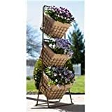 DPD 3 TIER HARVEST BASKETS PLANTER STAND - Size: 16X16X12