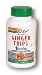 Solaray Ginger Trips Gumlet Capsules, 135mg, 30 Count