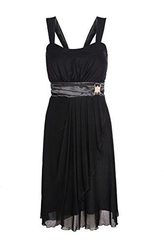 ROBLORA-Cocktail ceremonia vestido de noche vestido de dama de honor de la boda de bustier corto USBS01 negro