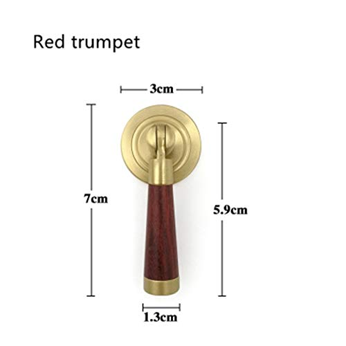 New Chinese brass high-grade mahogany handle handle drawer door writing desk desk shoe cabinet modern simple single hole - (Color: -