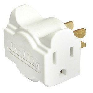 Hug-A-Plug Dual Outlet Wall Adapter, 6 Pack White