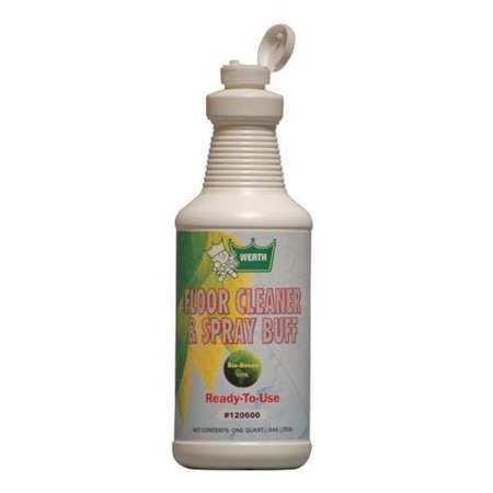 Bio-Based Flr Clnr/ Spray Buff 1 Qt by WERTH SANITARY SUPPLY