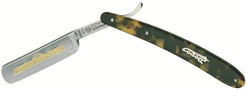 DOVO Faux Tortoise Shell Handle Straight Razor by Dovo