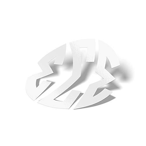 Sigma Sigma Sigma White No Border Monogram Sticker Decal Greek Letter 4 Inches Round for Window Laptop Computer Car Tri-Sigma