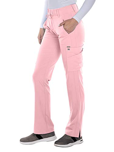 (Grey's Anatomy Signature 2218 Trouser Cargo Pant Rose Blush XL Tall)