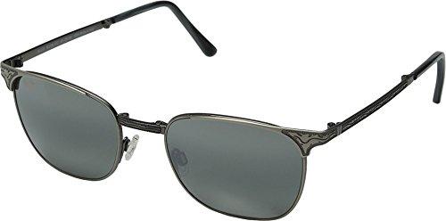 Maui Jim Mens Stillwater 52 Sunglasses (706) Silver Shiny/Grey Metal - Polarized - - Jim Sunglasses Maui Mala
