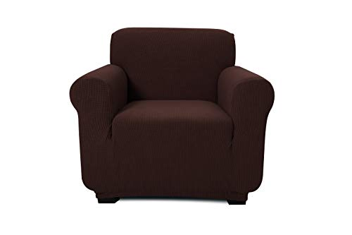 - ONE PIECE - ARM CHAIR/1 SEATER SOFA SLIPCOVER, POLYESTER+SPANDEX JACQUARD FABRIC, STRETCHABLE, HOME, HOTEL/MOTEL, RESORT & COMMERCIAL USE, FITS THE BACK OF FURNITURE FROM 32