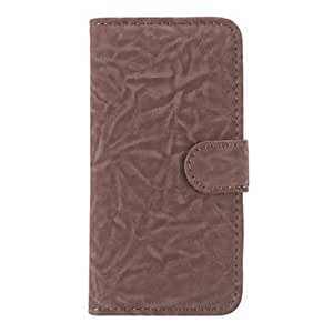 GHK - Trendy Demin Style PU Leather Full Body Case with Card Slot and Stand for iPhone 5C (Assorted Colors) , Brown