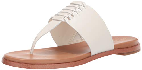 Cole Haan Women's Felix Grand Thong Sandal, Ivory Leather, 7.5 B US