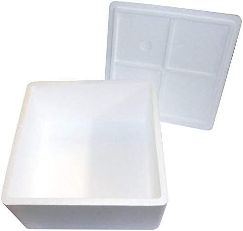 Paquete de 1 caja térmica blanca cuadrada de 36 x 36 cm y 20 cm de altura. Caja porta cajas de pizza, de poliestireno.: Amazon.es: Hogar