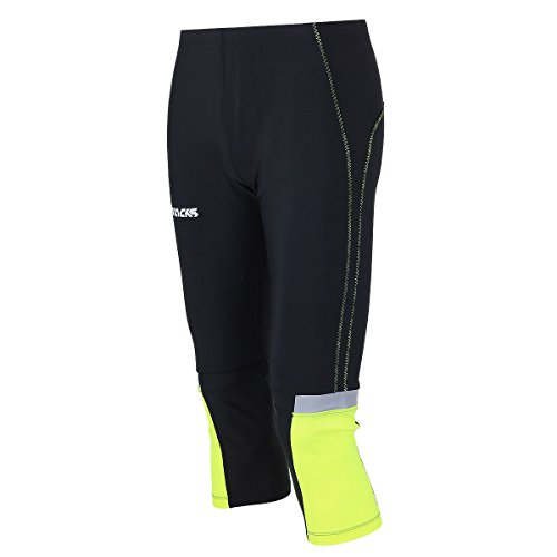 3 Tight Running Airtracks Pants 4 Compression Tight Reflectores Fluo Black Breathable Funktions Running xYwzqwtT