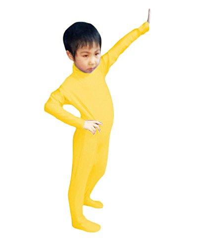 WOLF UNITARD Kids Lycra Spandex Bodysuit Dancewear Small Deep Yellow