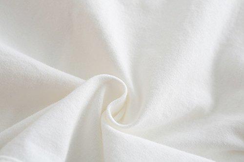 CHENXIN Girls Knit White Short Sleeve Bolero Cardigan Shrug (White1, 150/7-8T) by CHENXIN (Image #4)