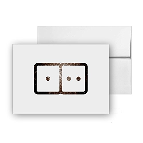 Pack Dominoes (Dominoes, Blank Card Invitation Pack, 15 cards at 4x6, with White Envelopes, Item 4059)