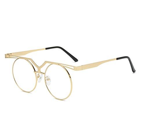 conduite polarisé Vintage de Or cadre Ronde Lunettes Keephen soleil UV400 Transparent lunettes Hip Non Classique Hop wpx1BqPUX