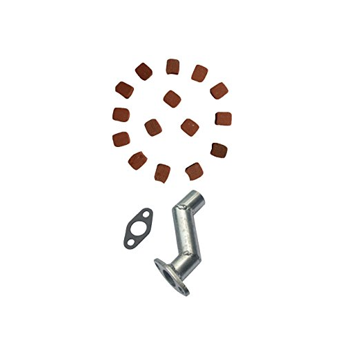 JRL Intake Manifold & 15xSquare Clutch Pads For 49cc 66cc 80cc Motorized Bicycle