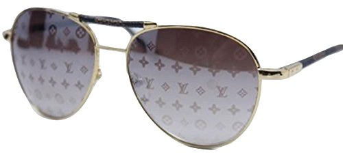 bfc937a12f153 Louis Vuitton Conspiration Pilote Aviator Sunglasses Z0202  Amazon.co.uk   Clothing