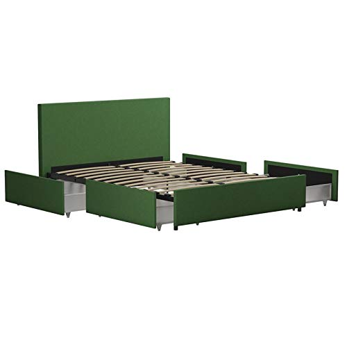 Novogratz Kelly Bed with Storage, Green, Full