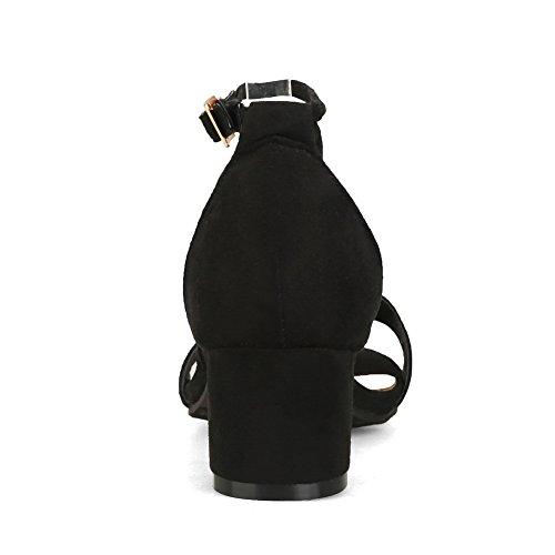 BalaMasa ASL05357 Ouvert Noir Femme Bout 0zw0UOqv