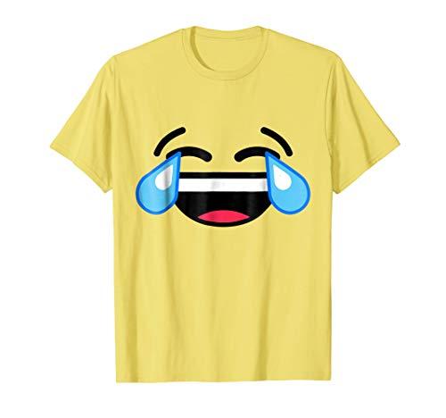 Laughing Crying Tears Of Joy Emoji T Shirt Costume