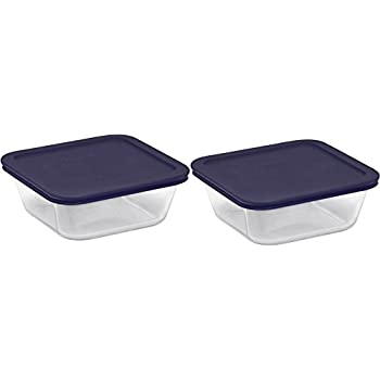 Amazoncom Pyrex Square Glass Food Storage Containers set with Dark