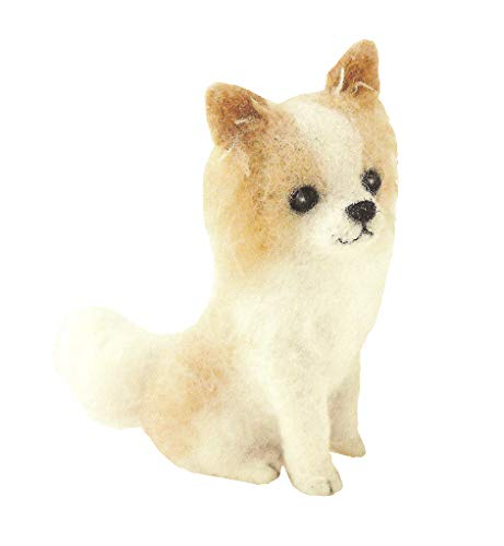 Cool Beans Boutique Wool Felting DIY Kit – Long Coat Chihuahua Dog (with English Instructions) – Imported from Japan