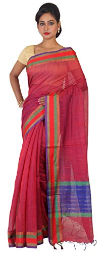 Indian Ethnic Cotton Silk SHaded Pink Designer Saree