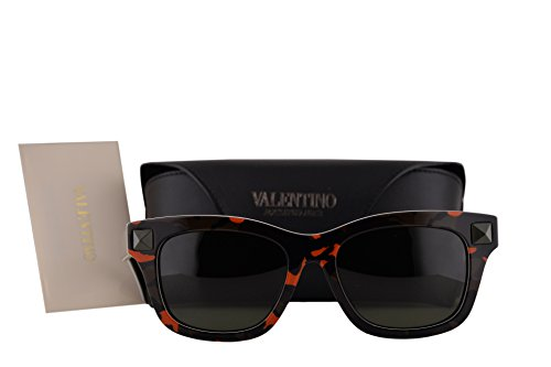 Valentino V670SC Sunglasses Fluorescent Orange Army Green w/Black Lens 800 V - Sunglasses Valentino