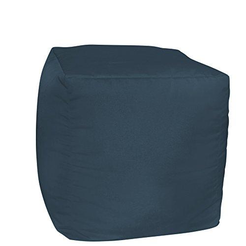 FiberBuilt Umbrellas AC01P-48080 Patio and Lawn Furniture with Sunbrella Pouf Cushion, Indigo