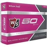 Wilson Staff Fifty Elite Pink Golf Balls | 12-pack