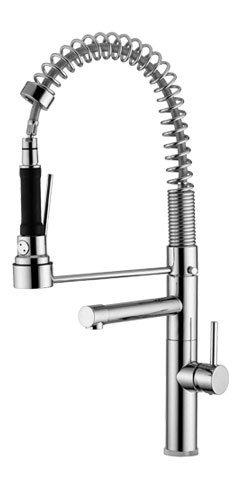 Aqua Brass Kitchen Faucet - Aqua Brass Single lever faucet 3310Npc Polished Chrome
