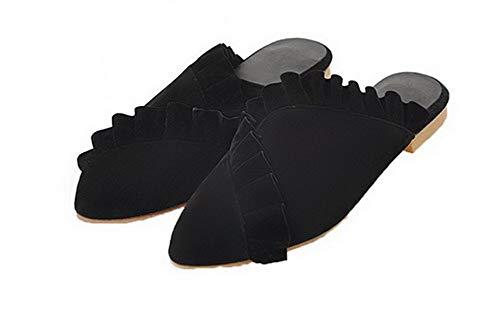 con smerigliato Donna Gmxlb010687 lacci Sandalo con con e Nero tallone Sandali vestito Agoolar ZX1zwPqcw