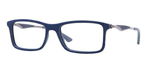 Ray Ban RX7023 Eyeglasses-5260 Top Blue On Matte Dark - Ray Eyeglasses Ban Gray