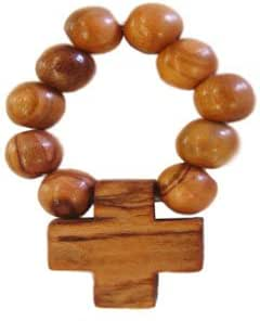 Olive Wood Finger Rosary.(2.5L)