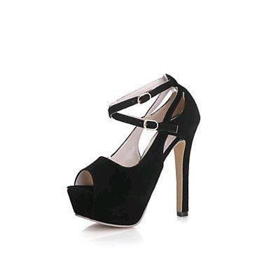 Zormey Tacones Mujer Primavera Verano Otoño Invierno Club Zapatos Zapatos Formales Ante La Oficina Exterior &Amp; Carrera Informal Hebilla Stiletto Talón Caminando US8 / EU39 / UK6 / CN39
